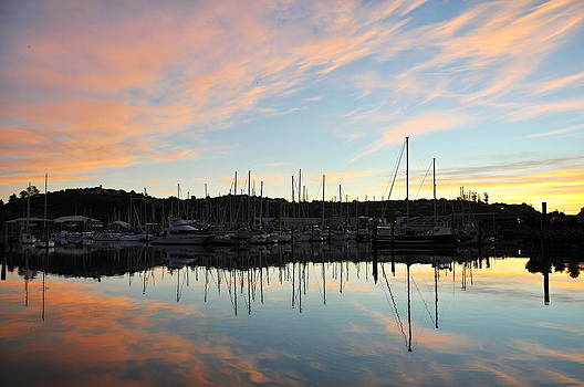 Nelson port reflection by Tomas Mahring