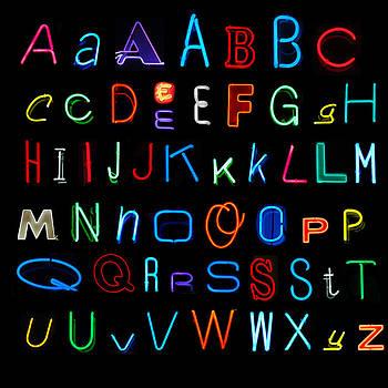 Neon Alphabet by Karin Hildebrand Lau