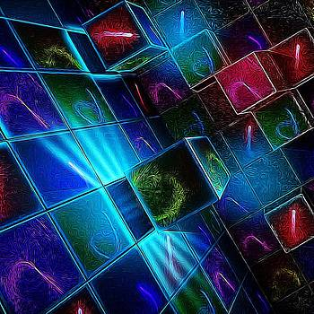 Neon Cubes by T T