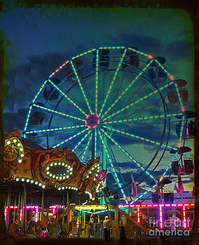 Neon Ferris Wheel by Anne Sterling