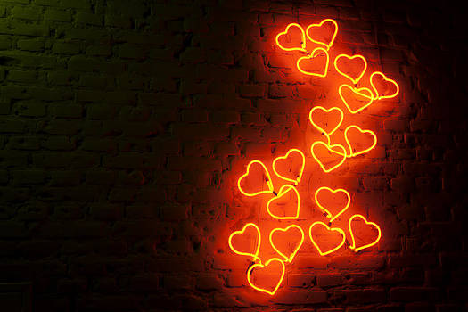 Neon Hearts by Luciano Trevisan