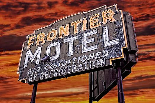 Neon Sign Frontier Motel by Henry Kowalski