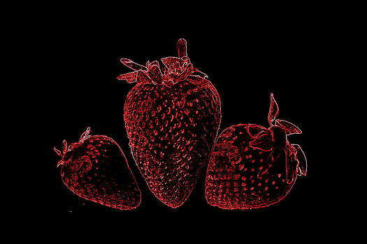 Neon Strawberries by Deanna King
