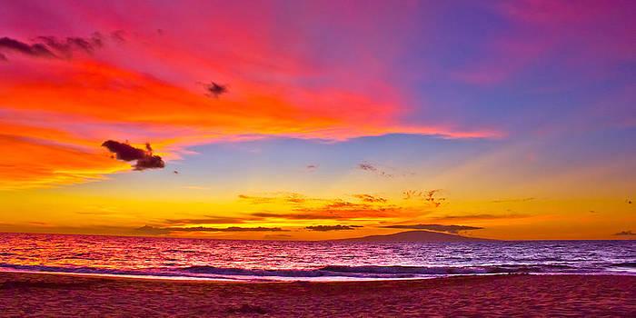 Neon Sunset over Lana'i by Carl Christensen
