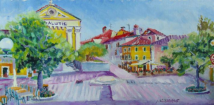 Nerezine square by Mariano Zucchi