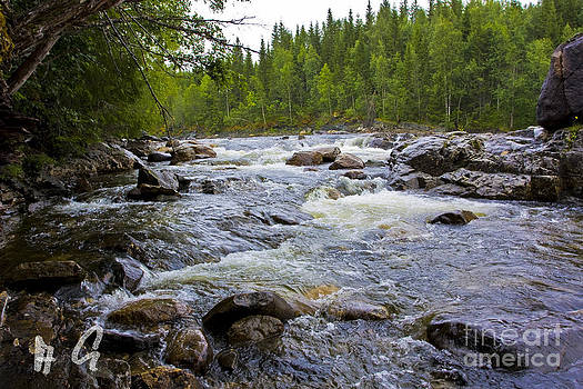 Neselva River. Nord-Trondelag . Norway.  by  Andrzej Goszcz