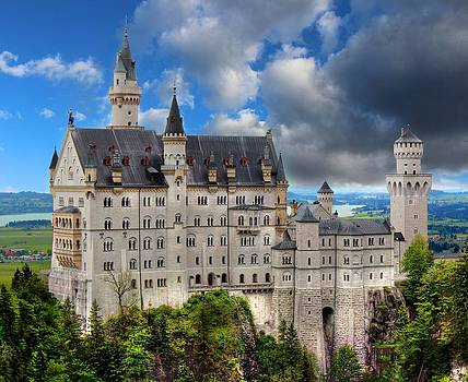 Neuschwanstein The White Swan Castle by Julia Fine Art And Photography