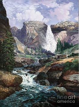 Nevada Falls Rendition by w scott fenton by W  Scott Fenton