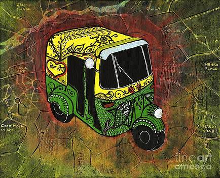 New Delhi Auto Rickshaw by Anusha Mishra