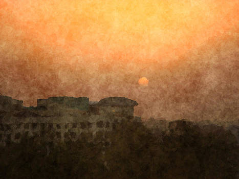 New Delhi Sunset by Scott Hill