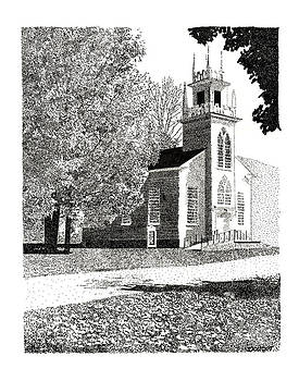 New England Church by David Doucot
