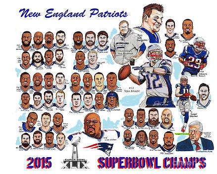 New England Patriots Superbowl Champions by Dave Olsen