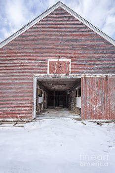Edward Fielding - New England Red Barn Open Door