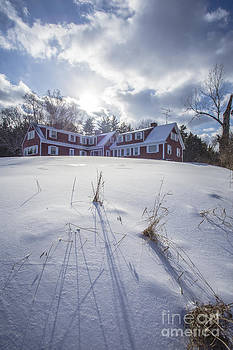 Edward Fielding - New England Red Farm House Winter