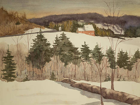 New England Winter by Peggy Poppe