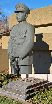 New Journey - Chico's General Vang Pao Statue In January And October 2014 by James Warren