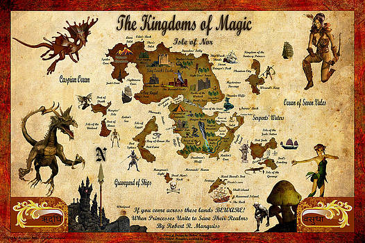 New Map of the Kingdoms of Magic by Robert Marquiss