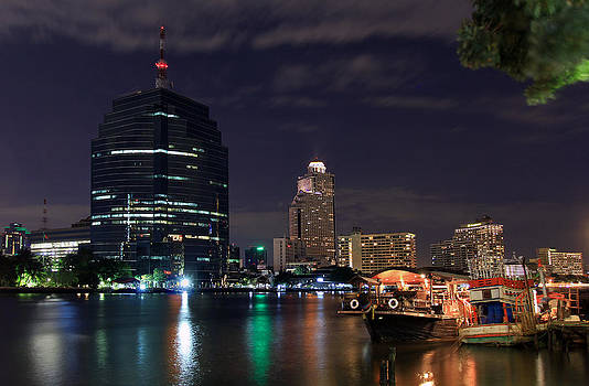 New Meets Old on the Chao Phraya River by Dave Sribnik