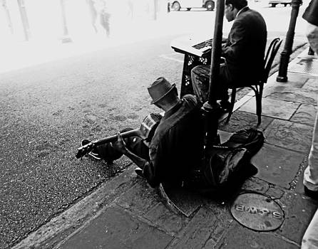 New Orleans Busker by Louis Maistros