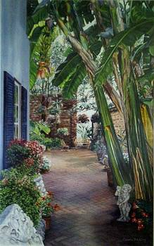 New Orleans Courtyard by Cherie Sikking