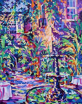 New Orleans Courtyard by Elaine Adel Cummins