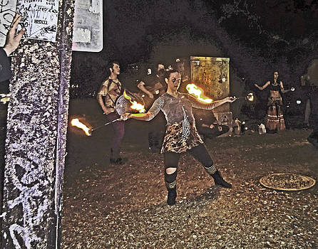 New Orleans Flame Juggler by Louis Maistros