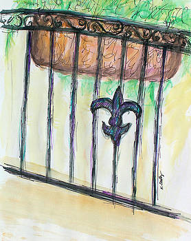 New Orleans Porch View by Kristye Addison Dudley