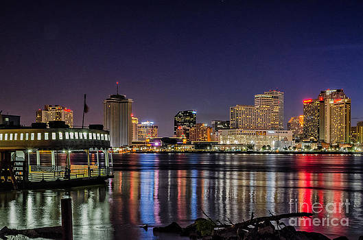 New Orleans Reflects on a Summer Night by Kathleen K Parker