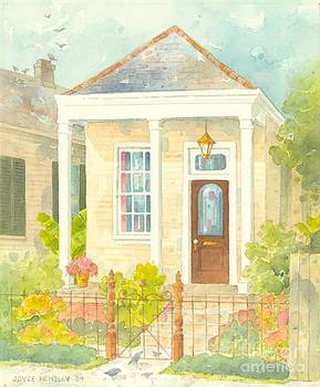 New Orleans Shotgun Cottage with Porch by Joyce Hensley