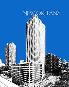 DB Artist - New Orleans Skyline - Blue