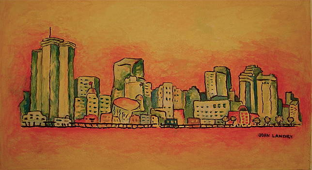 New Orleans Skyline by Joan Landry