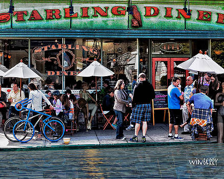 People are Flooding to the Starling Diner by Bob Winberry