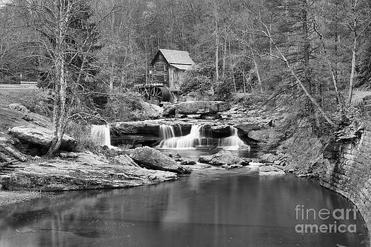 Adam Jewell - New River Gorge Grist Mill Black And White