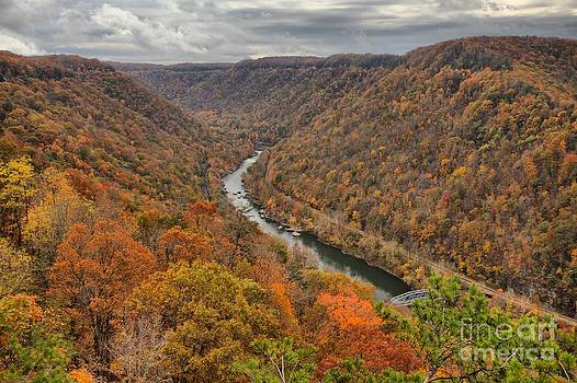 Adam Jewell - New River Gorge Overlook Fall Foliage