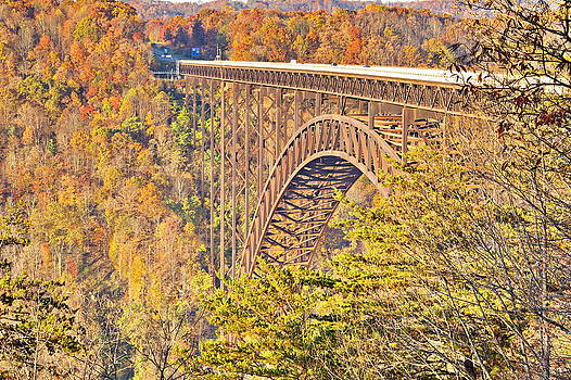 Simply  Photos - New River Gorge Single-Span Arch Bridge in Autumn.