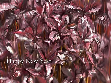 Usha Shantharam - New Year card - Purple Foliage
