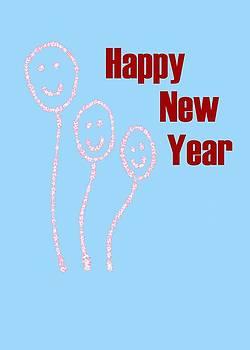 Usha Shantharam - New Year smiling baloons
