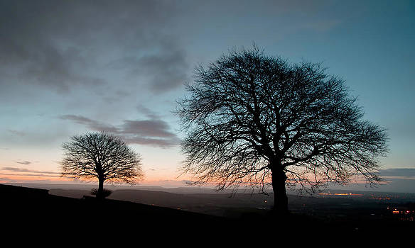 New Years Dawn on Yarde Downs by Pete Hemington