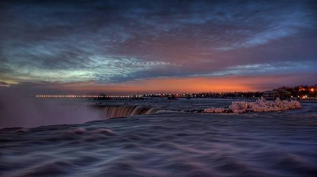 New Years Sunrise at the Falls by Jim Koniar