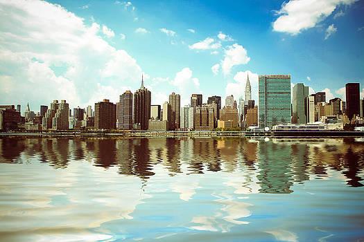 New York - Vintage Skyline by Amador Esquiu Marques