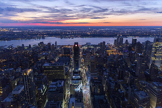 New York at night by D Plinth