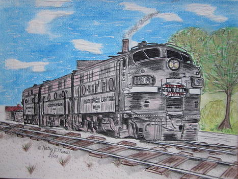 New York Central Train by Kathy Marrs Chandler