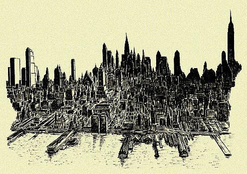 Art America Gallery Peter Potter - New York City 78 - Ink Panorama