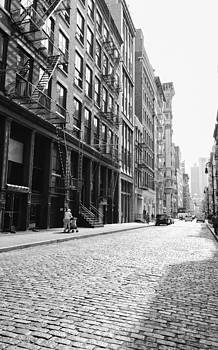 New York City Afternoon - Cobblestones in the Sunlight by Vivienne Gucwa