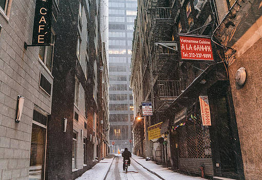 New York City Alley in the Snow by Vivienne Gucwa
