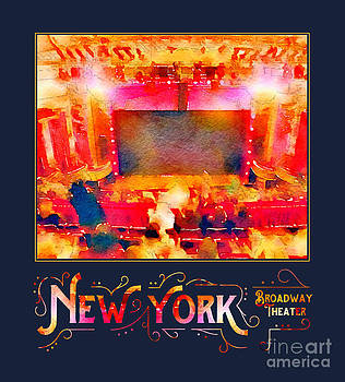 Beverly Claire Kaiya - New York City Broadway Theater Digital Watercolor