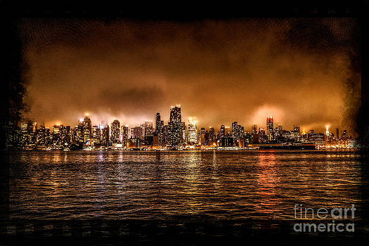New York City by Night by Mark East