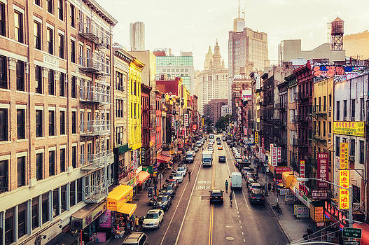 New York City - Chinatown Street by Vivienne Gucwa
