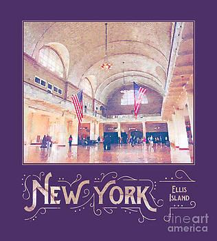 Beverly Claire Kaiya - New York City Ellis Island Digital Watercolor