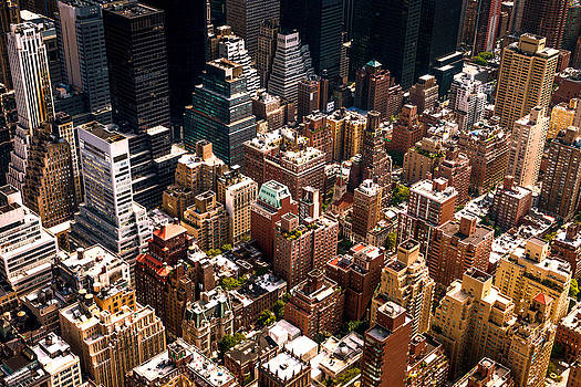 New York City Skyline from Above by Vivienne Gucwa